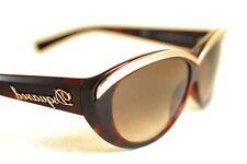 DSQUARED2 dq0018 52F lunettes de soleil femme Marron Foncé Havana Gradient ovale oeil de chat