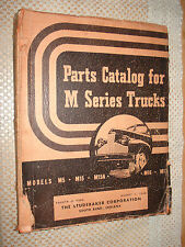 1941-1948 STUDEBAKER TRUCK PARTS CATALOG PARTS NUMBERS BOOK RARE M SERIES