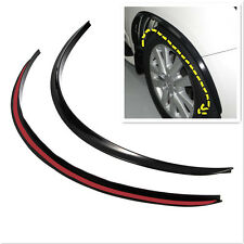 2x Black Wheel Eyebrow Protector Anti-Scratch Sticker Soft Strip Wheel-arch trim