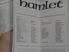 PLAYBILL PROGRAM Hamlet 1975 Sam Waterston Ruby Dee John Lithgow Artpark NewYork