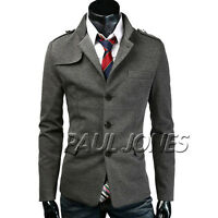 Stylish Mens Slim fit Stylish Casual Formal Button Blazer Jacket Suit Coat Tops