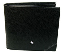 NEW Mont Blanc Meisterstuck Soft Grain 111125 Men's 4CC Leather Wallet-Coin Case