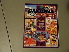 FEBRUARY 19,1995 DAYTONA 500 NASCAR RACING PROGRAM,STERLING MARLIN COVER,IROC