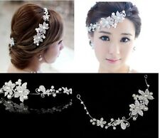 Bridal Hair Gesteck Accessories Wedding Communion Headdress Art Pearl Type 1