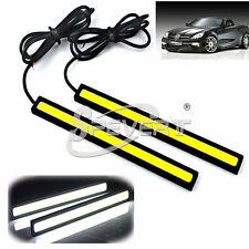 Auto 2*17cm 6W COB LED DRL Daytime Running Nebbia Fog Lamp Light Bar White 12V
