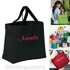 4 Personalized Tote Bag Bridesmaid Gift Cheer Dance Monogrammed Embroidered