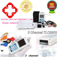 2016 New 3 Channels ECG Holter ECG/EKG Holter Monitor System,PC Software,OLED