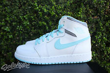 AIR JORDAN 1 RETRO HIGH GS GG SZ 7 Y WHITE STILL BLUE KIDS 332148 106