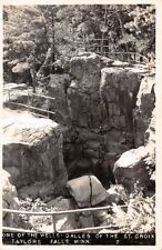 TAYLORS FALLS MN ONE OF THE WELLS~DALLES OF THE  ST CROIX~REAL PHOTO POSTCARD