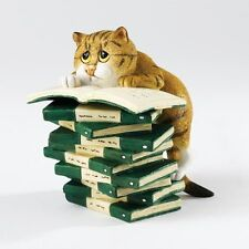 Comic and Curious Cats Figurine : A23826 Book Club RRP £35 ***On Sale