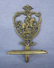 """Antique english hook hanger made of ormolu early 1900's 5 1/2"""" tall knight"""