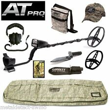 Garrett AT Pro Metal Detector Diggers Special w/ Digger, Bag, Scuff, Pouch, Cap