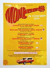 The Monkees 'In Concert 2001' UK A5 tour flyer - MINT...ideal for framing!