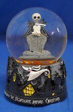Nightmare Before Christmas RIP Jack Skellington Zero Musical Blower Snowglobe