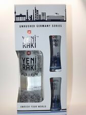 Yeni Raki Unrushed Germany Series 700 ml 45% 2 Gläser - Stuttgart Edition 0,7 L