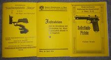 Beschreibung Taschen-Pistole Steyr, Pistole Steyr Modell 34 mit Kipplauf & 1912