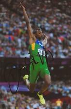 ATHLETICS: MAURO VINICIUS DA SILVA SIGNED 6x4 LONDON 2012 PHOTO+COA *RIO 2016*