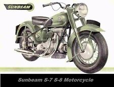 SUNBEAM S7 S8 MOTORCYCLE PARTS MANUAL with Spares List Diagrams & Sidecar info