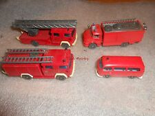 4 Vintage Wiking Fire Trucks Germany 1/64 Scale