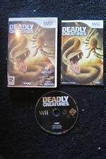 WII : DEADLY CREATURES - Completo, ITA ! Cacciatore o Preda ! Compatibile Wii U