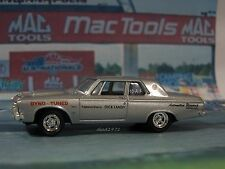 DRAG RACING LANDYS 1963 PLYMOUTH 426 HEMI MAX WEDGE 1/64 MODEL COLLECT DIORAMA