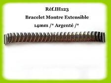 BRACELET MONTRE EXTENSIBLE /* ARGENTÉ /* 14mm REF.IH123