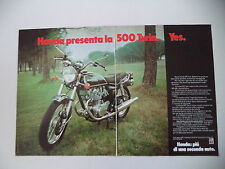 advertising Pubblicità 1975 MOTO HONDA CB 500 TWIN