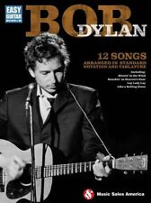 Bob Dylan Easy Learn to Play Guitar FOLK SONGS TAB Music Book blowin in the wind