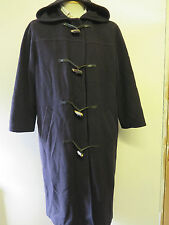 Vintage Burberry Prorsum Wool Cashmere Duffle Raincoat Coat UK16 Euro 44 - Navy