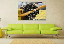 Stunning Poster Wall Art Decor Wooden Airplane Propeller 36x24 Inches