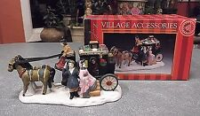 CHRISTMAS VILLAGE HOUSE - BY: CALDOR - PORCELAIN HORSE AND CARRIAGE WITH PEOPLE