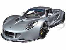 HENNESSEY VENOM GT SPYDER  SILVER 1/18 DIECAST MODEL CAR BY AUTOART 75402