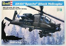 Revell AH-64 Apache Attack Helicopter 1/32 Scale MODEL KIT 4575 COMPLETE UNBUILT