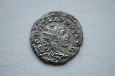 ANCIENT ROMAN PHILIP 1 SILVER ANT COIN 3rd Century AD EQUESTRIAN ELEPHANT