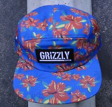 Diamond Grizzly Griptape Tropical Blue High 5 Panel Unisex Skate Co Snapback Hat