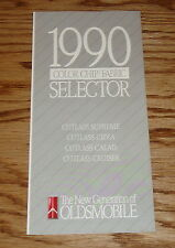Original 1990 Oldsmobile Cutlass Interior Exterior Color & Fabric Brochure 90