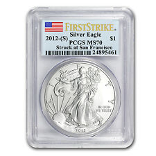 2012 (S) 1 oz Silver American Eagle Coin - MS-70 First Strike PCGS - SKU #68522