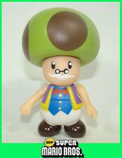 9cm Super Mario Brothers Action Figure Movable Figurine Mushroom TOADSWORTH
