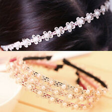 1pcs Women Girl Lady Lace Flower Headband Head Piece Hair Band Hair accessories