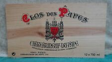 CLOS DE PAPES CHATEAUUNEUF  WOOD WINE PANEL END 3/8'' THICKNESS