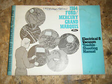 1984 MERCURY GRAND MARQUIS FACTORY ELECTRICAL TROUBLESHOOTING MANUAL SERVICE