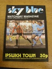 01/12/1979 Coventry City v Ipswich Town  (Excellent Condition)
