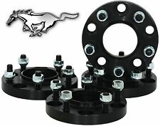 "4 PC FORD MUSTANG 5x4.5"" 20 MM THICK BLACK HUB CENTRIC WHEEL SPACERS 1/2"" STUDS"