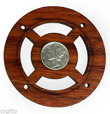 """""""Mercury Dime"""" Old Silver Coin Sound Hole Cover for Cigar Box Guitars 32-196-01"""