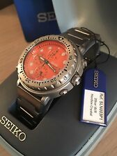 Raro Seiko Tuna  Y182 -7C20 AO  Orange Dial Box Tag