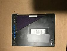 Genuine Amazon Kindle Paperwhite Leather Case - Royal Purple