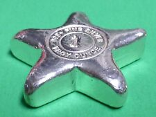 1 oz .999 fine silver hand poured art bar # 813 YEAGERS POURED SILVER STAR