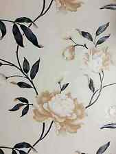 Diseñador Negro & Crema Galleta Floral Luxuryweight Wallpaper 14854 por debona:)