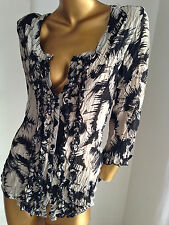 3/4 sleeve stylish SUZANNE GRAE crushed party top sz10