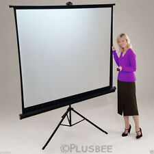 Portable 125x125cm Tripod HD Projection Screen Matte Pull Down Projector CINEMA